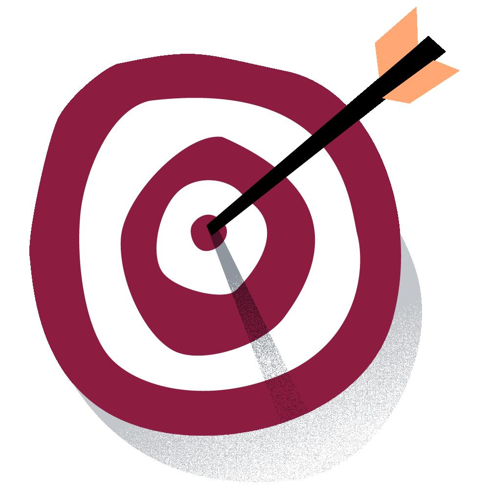 arrow on target
